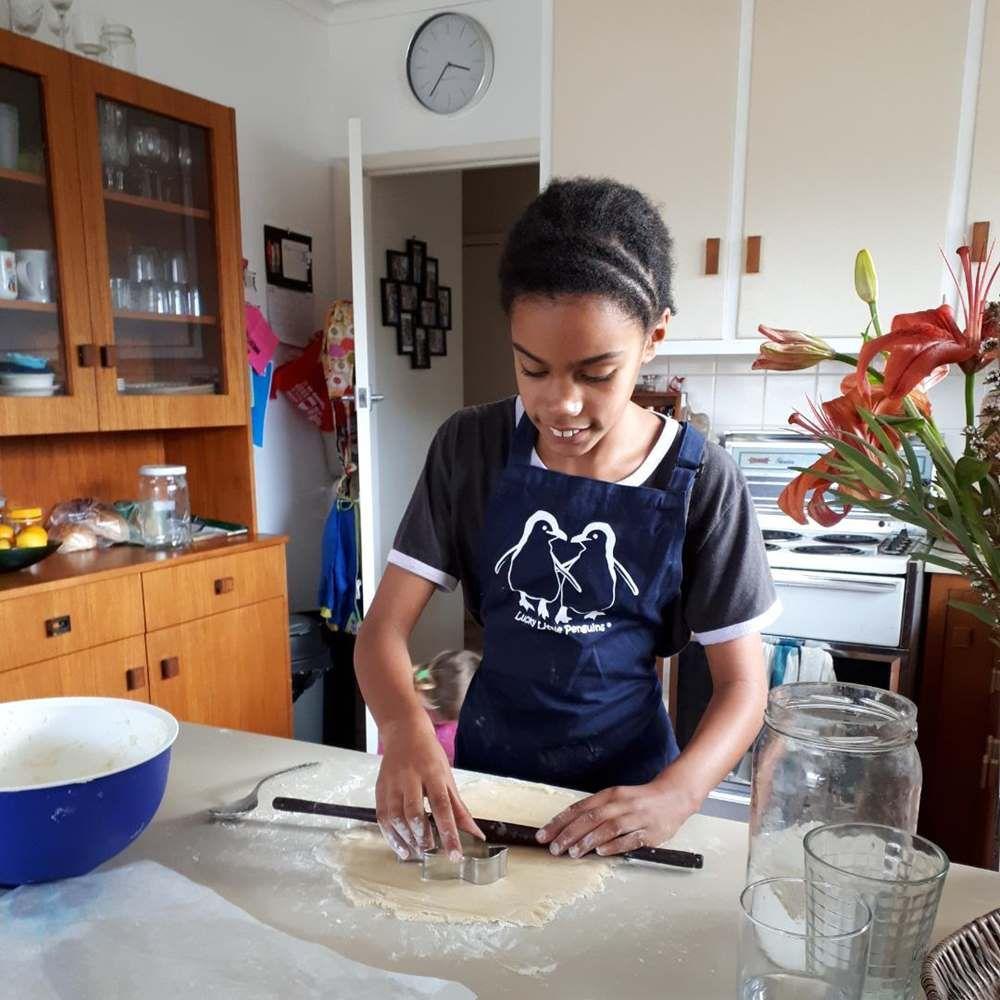 Making penguin cookies
